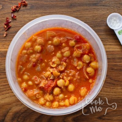 Vegan Tomato Chickpea & Coconut Soup recipe - step 4