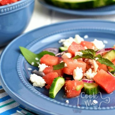 Watermelon Feta Salad Recipe-How to make Watermelon Feta Salad-Delicious Watermelon Feta Salad