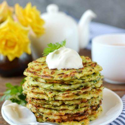 Zucchini Fritters Recipe-Homemade Zucchini Fritters-Delicious Zucchini Fritters