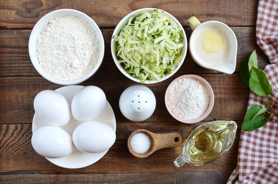 Ingridiens for Zucchini Pancakes