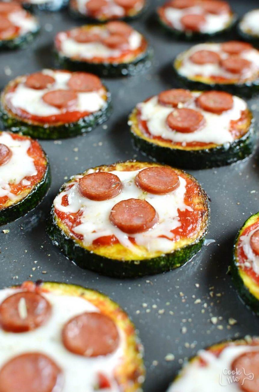 Keto Gluten Free Zucchini Pizza Bites