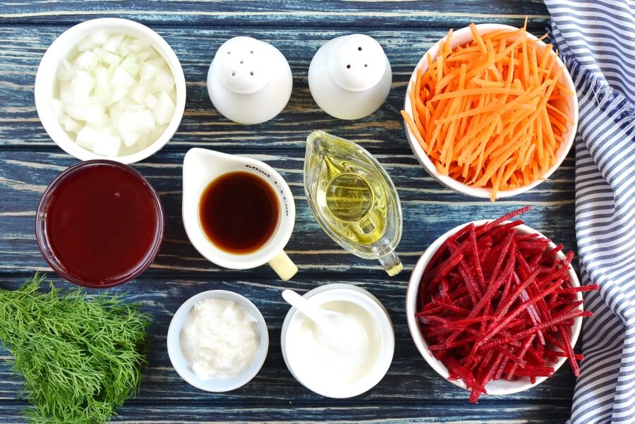 Ingridiens for Almost-Instant Chilled Borscht