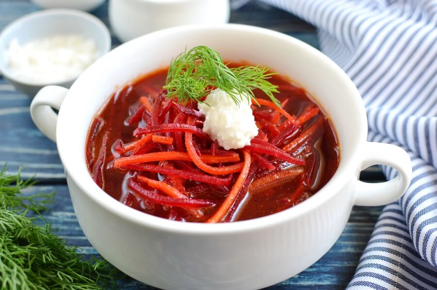 Almost-Instant Chilled Borscht Recipe-How To Make Almost-Instant Chilled Borscht-Delicious Almost-Instant Chilled Borscht
