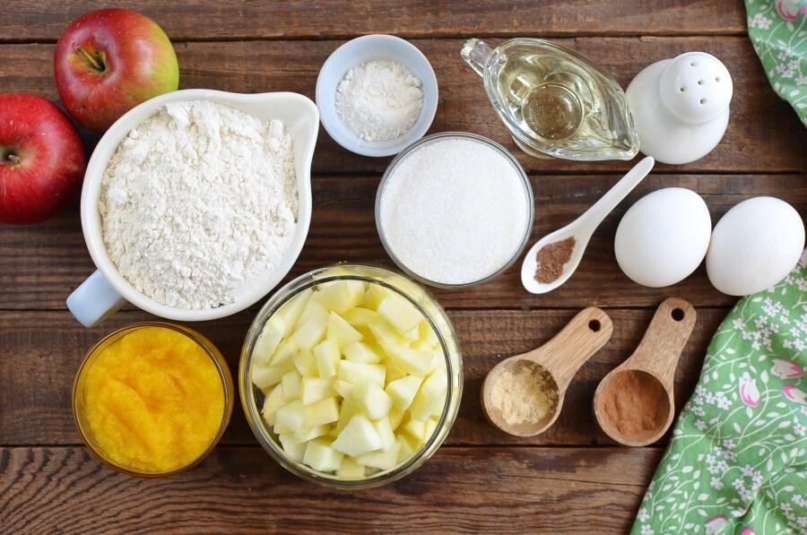 Ingridiens for Apple Pumpkin Muffins