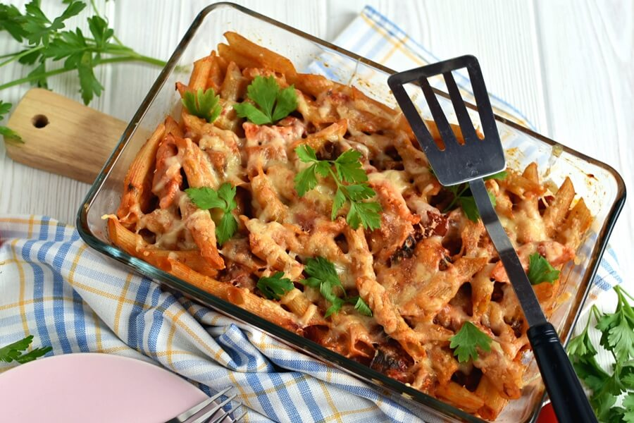 How to serve Baked Ratatouille-Sausage Penne