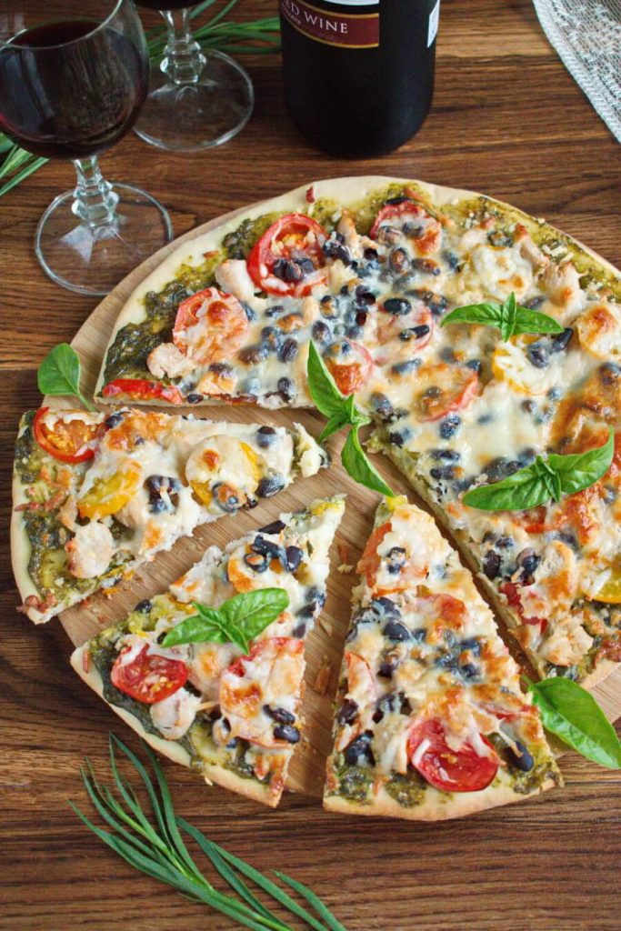 Chicken Pizza Recipe-How to make Perfect Chicken Pizza-Homemade Chicken Pizza
