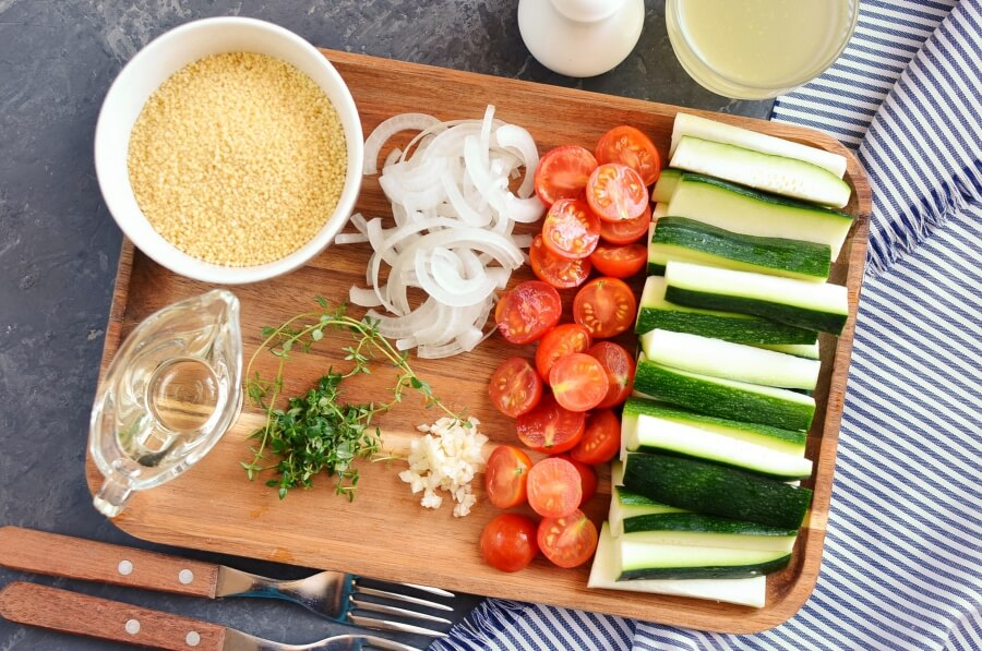 Couscous with Zucchini and Cherry Tomatoes Recipe-How To Make Couscous with Zucchini and Cherry Tomatoes-Homemade Couscous with Zucchini and Cherry Tomatoes