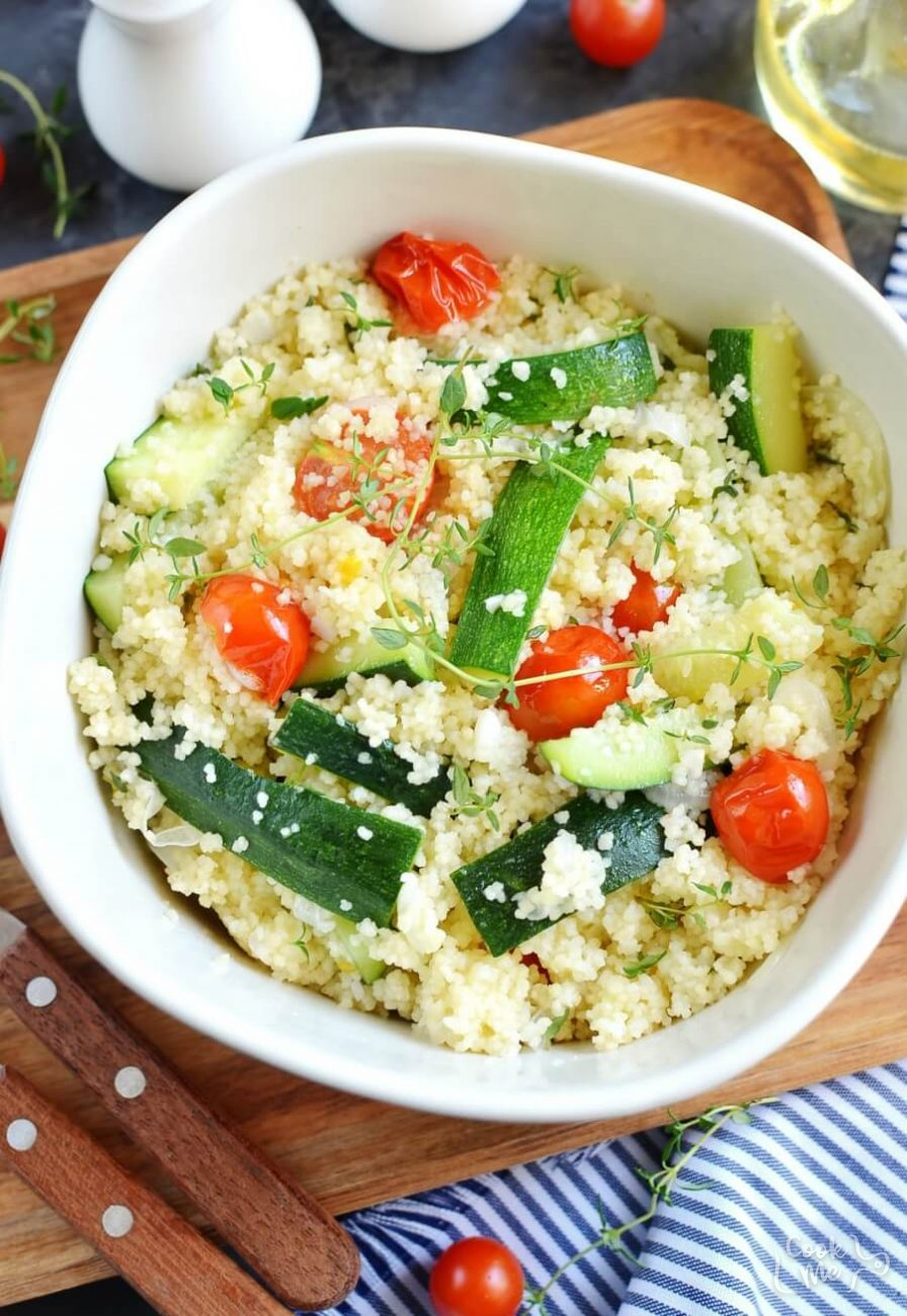 Couscous with Zucchini and Cherry Tomatoes