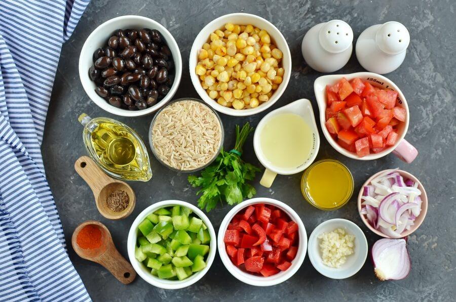 Ingridiens for Cowboy Rice Salad