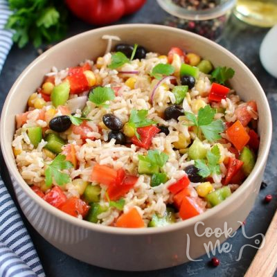 Cowboy Rice Salad Recipe-How To Make Cowboy Rice Salad-Delicious Cowboy Rice Salad