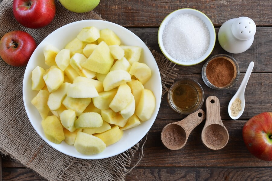 Ingridiens for Crock-Pot Apple Butter