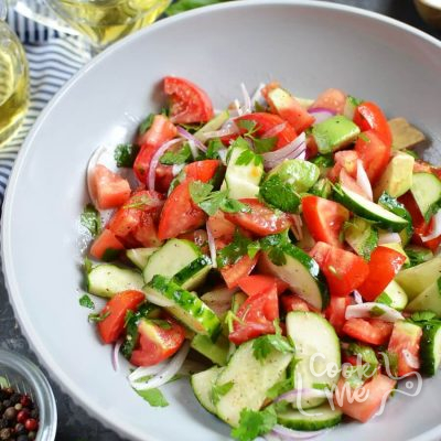 Cucumber, Tomato and Avocado Salad Recipe-How To Make Cucumber, Tomato and Avocado Salad-Delicious Cucumber, Tomato and Avocado Salad