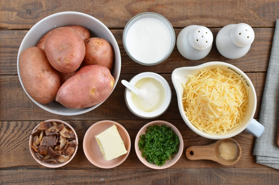 Ingridiens for Easy Twice Baked Potatoes