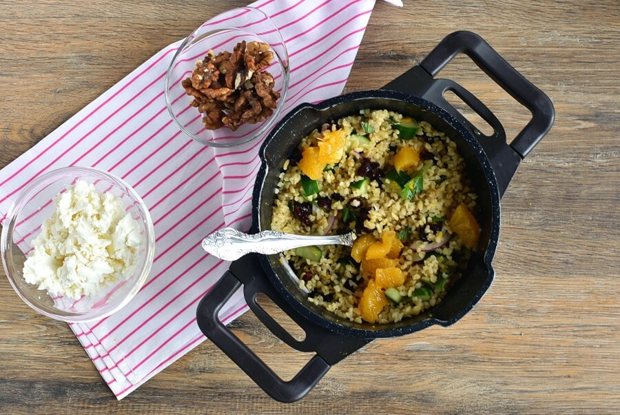 How to serve Fruited Tabbouleh with Walnuts and Feta