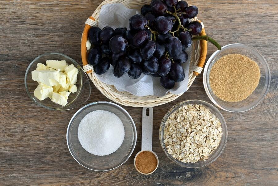 Ingridiens for Gluten Free Grape Crisp