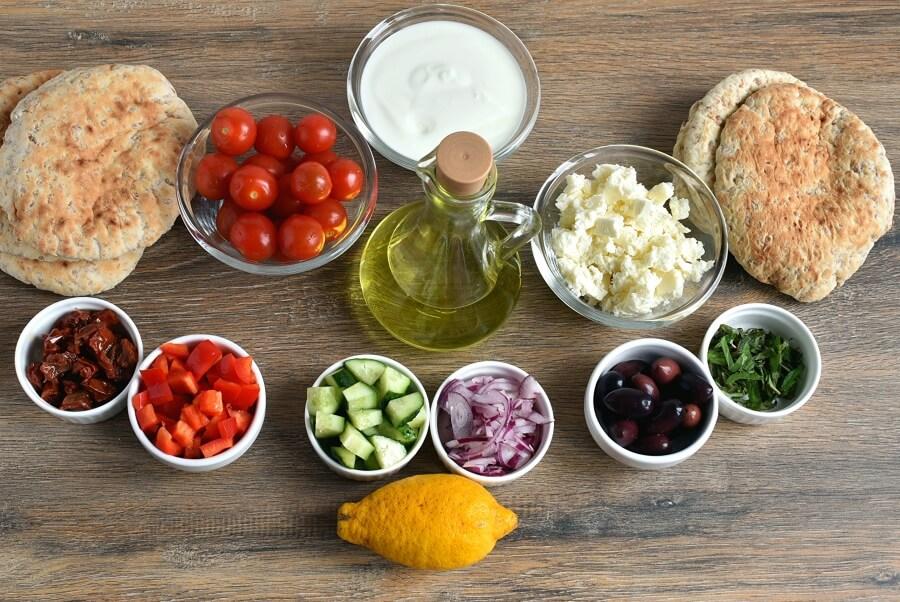 Ingridiens for Greek Nachos