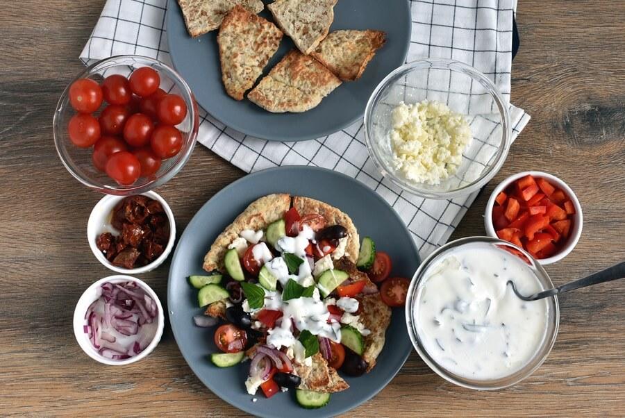 How to serve Greek Nachos