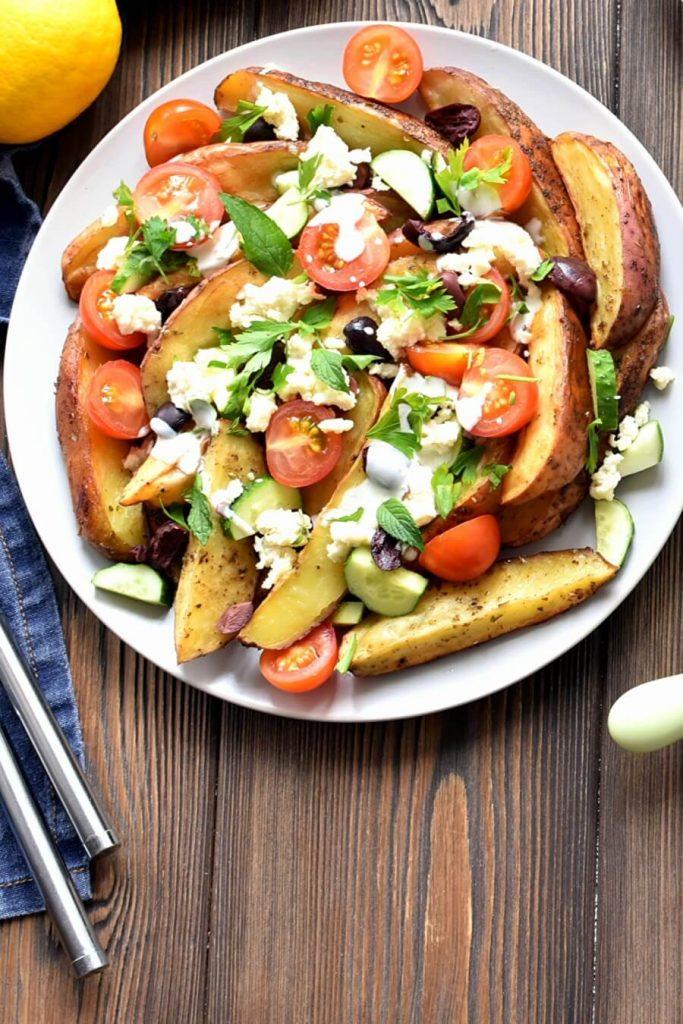 Greek Potato Wedges Recipe-How to make Greek Potato Wedges-Delicious Greek Potato Wedges