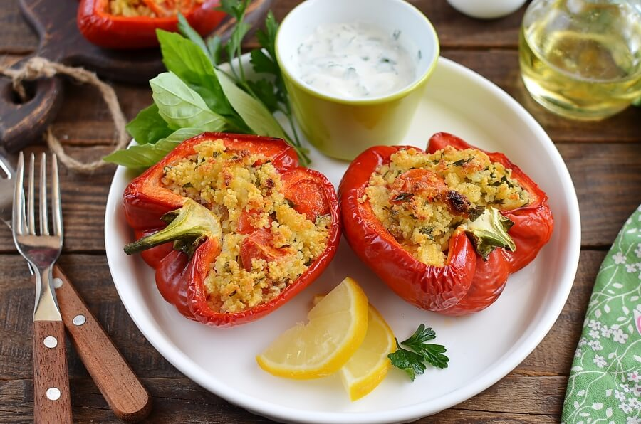 Gremolata Couscous-Stuffed Peppers Recipe-How To Make Gremolata Couscous-Stuffed Peppers-Homemade Gremolata Couscous-Stuffed Peppers