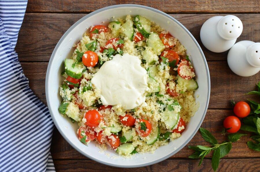 Grilled Aubergine Tabbouleh recipe - step 5