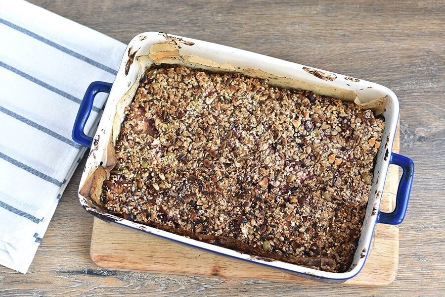 Healthy Vegan Plum Slice recipe - step 8
