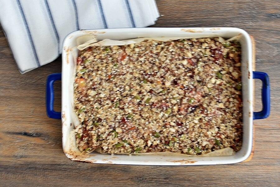 Healthy Vegan Plum Slice recipe - step 7
