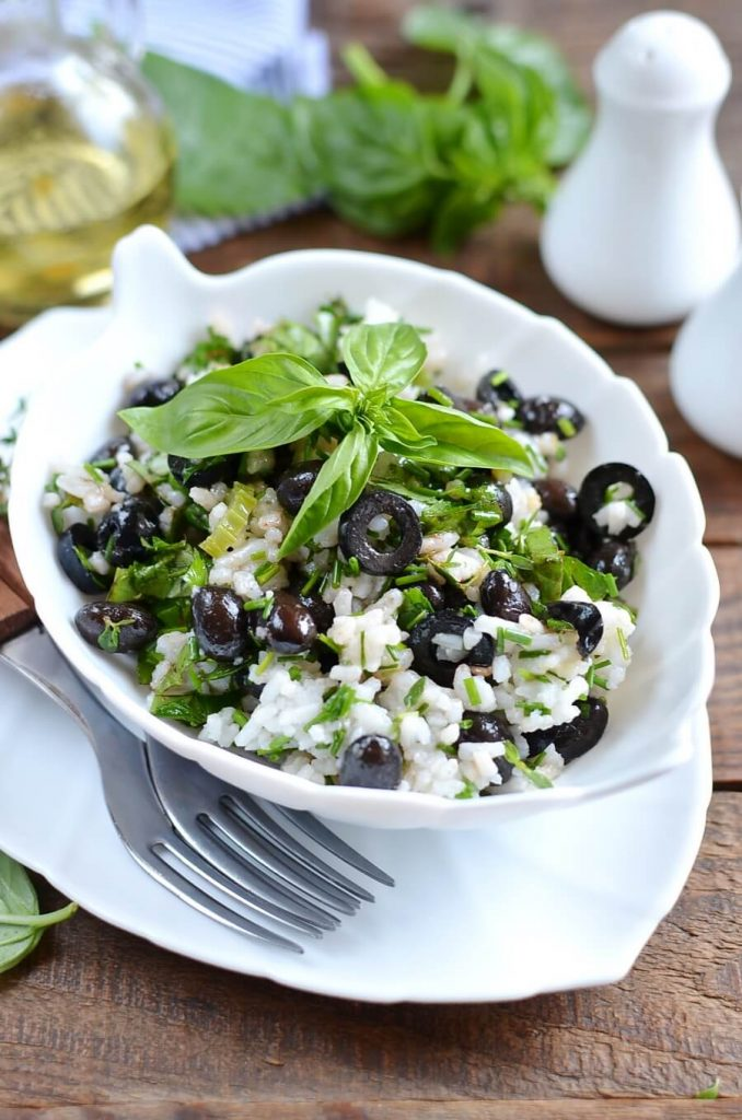 Herbed Rice with Spicy Black Bean Salad Recipe-How To Make Herbed Rice with Spicy Black Bean Salad-Delicious Herbed Rice with Spicy Black Bean Salad