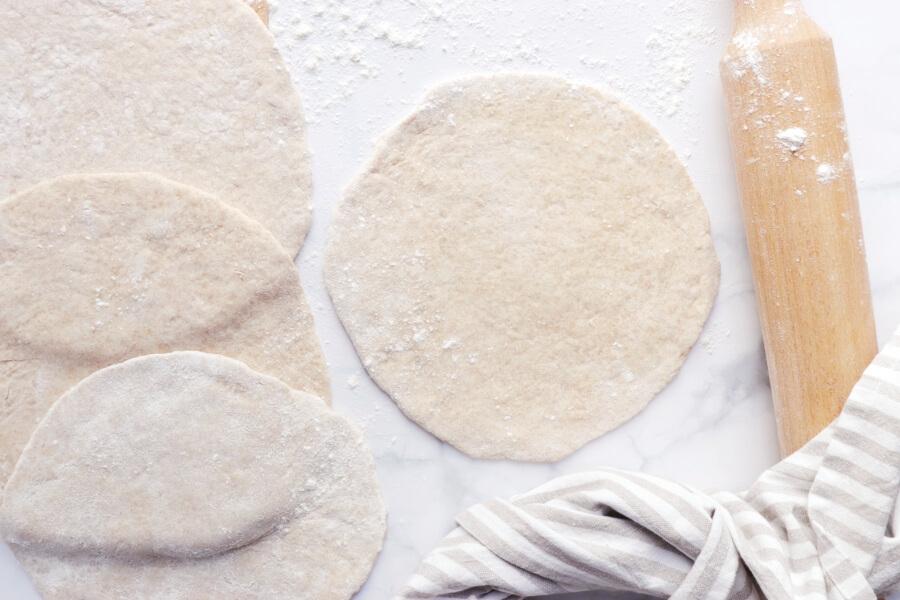 Mediterranean Yogurt Flatbread with Crispy Eggplant recipe - step 6