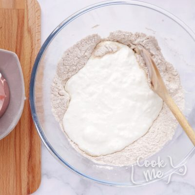 Mediterranean Yogurt Flatbread with Crispy Eggplant recipe - step 3