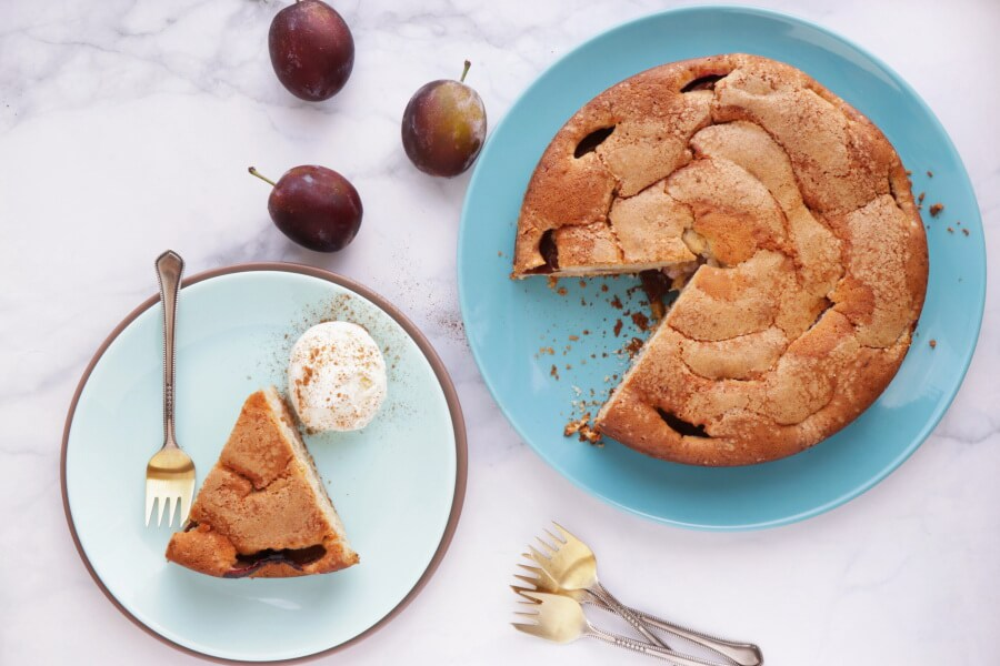 How to serve Late Summer Plum Cake