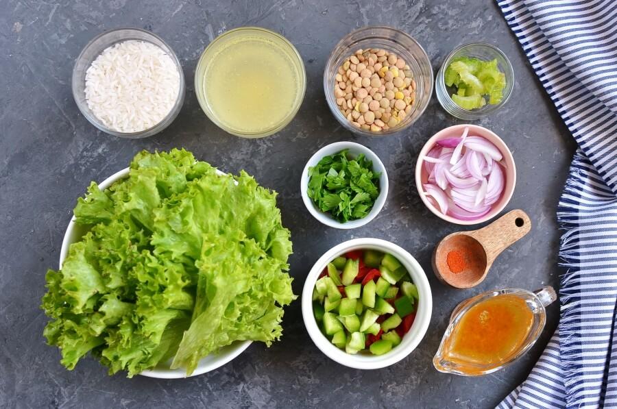 Ingridiens for Lentil Rice Salad