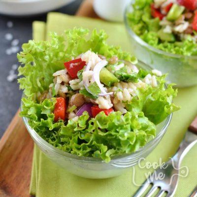 Lentil Rice Salad Recipe-How To Make Lentil Rice Salad-Delicious Lentil Rice Salad