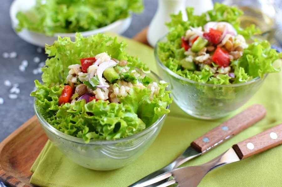 How to serve Lentil Rice Salad