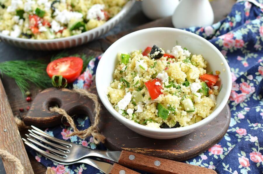 How to serve Mediterranean Couscous Salad