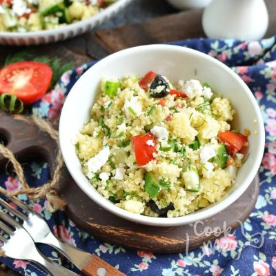Mediterranean Couscous Salad Recipe-How To Make Mediterranean Couscous Salad-Homemade Mediterranean Couscous Salad