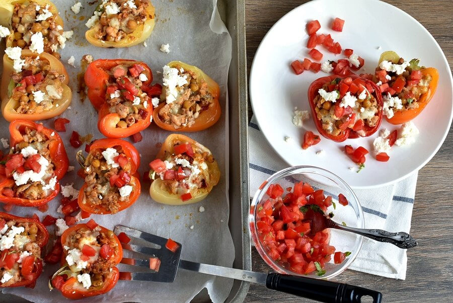 How to serve Mediterranean Stuffed Peppers