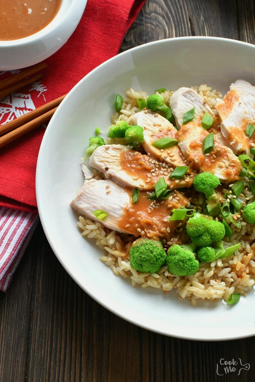 Miso Brown Rice and Chicken Salad