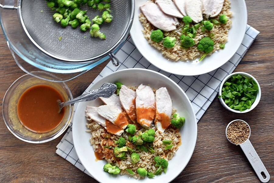 How to serve Miso Brown Rice and Chicken Salad