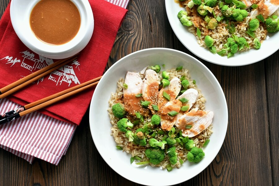 Miso brown rice and chicken salad Recipe-How to make Miso brown rice and chicken salad-Delicious Miso brown rice and chicken salad