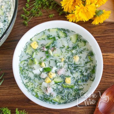 Okroshka - Russian Summer Soup recipe-How to make Okroshka-Okroshka - Cold Summer Soup