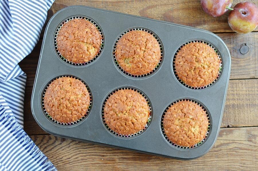 Plum Oat Muffins recipe - step 6