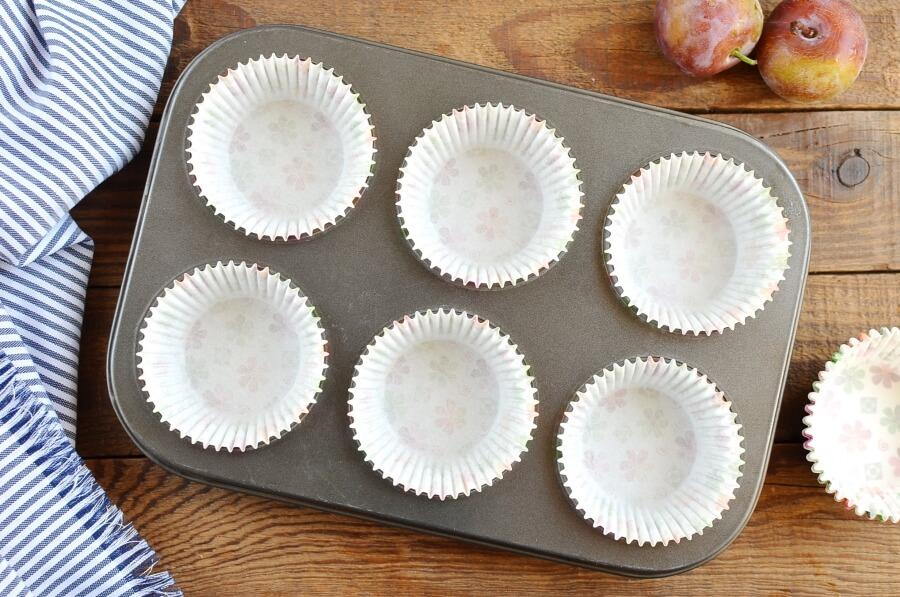 Plum Oat Muffins recipe - step 1