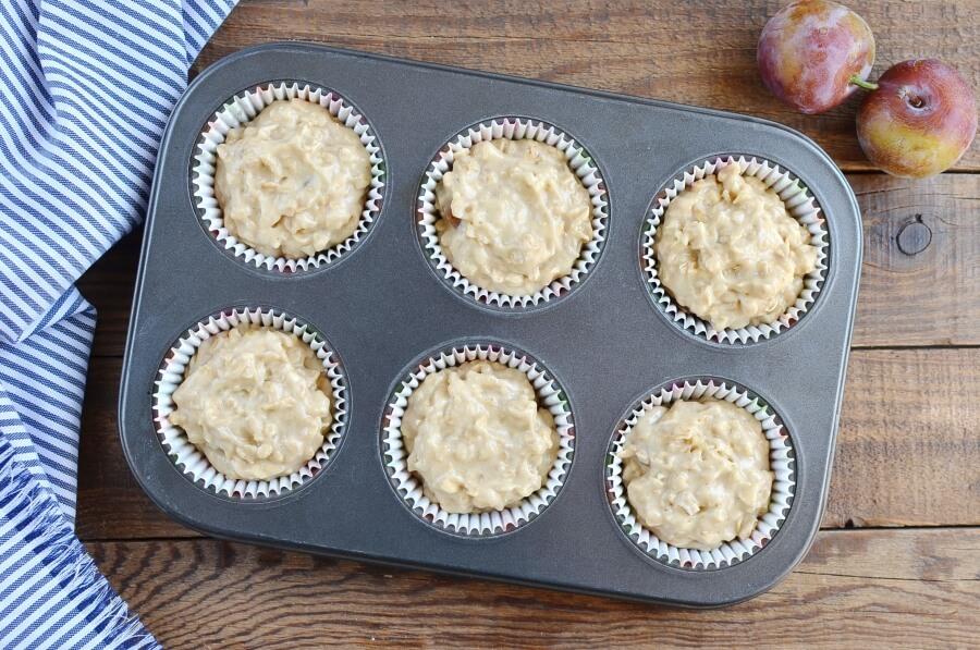 Plum Oat Muffins recipe - step 5