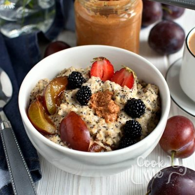 Plum Poppy Seed Oatmeal Recipe-How to make Plum Poppy Seed Oatmeal-Delicious Plum Poppy Seed Oatmeal