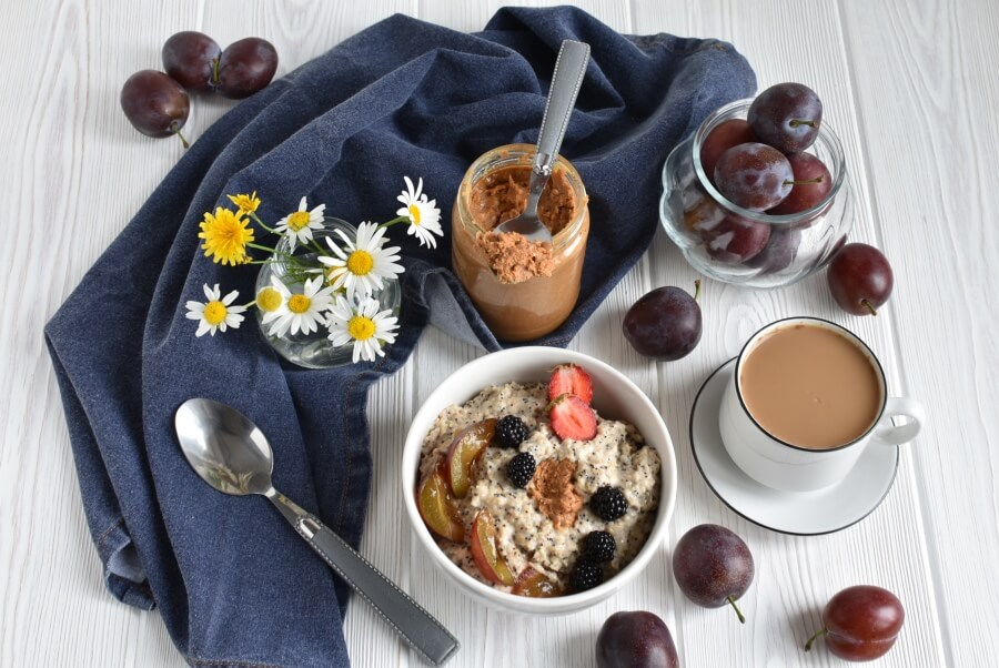 How to serve Plum Poppy Seed Oatmeal