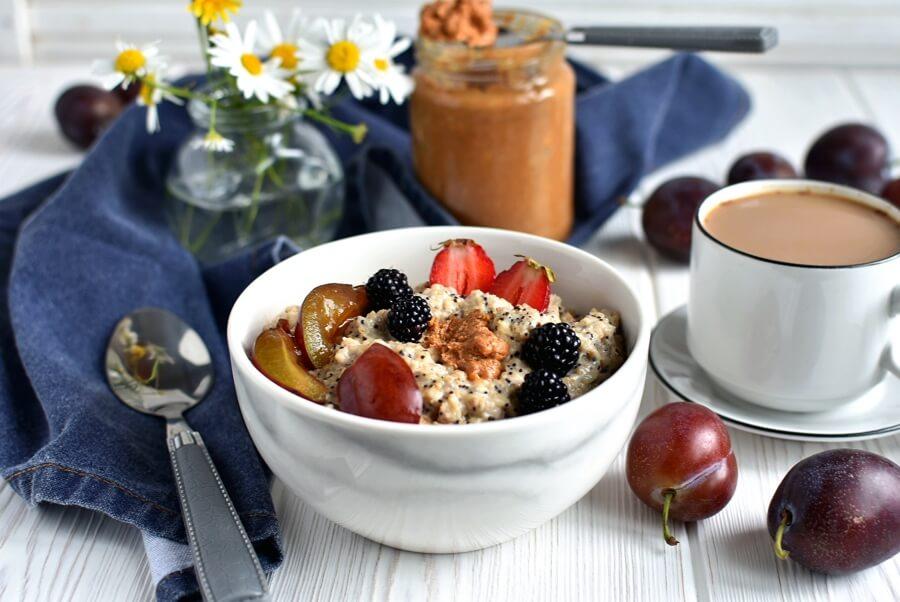 Plum Poppy Seed Oatmeal Recipe-How to make Plum Poppy Seed Oatmeal-Delicious Plum Poppy Seed Oatmeal