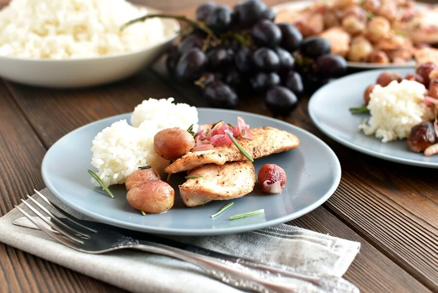 How to serve Roasted Chicken Grapes Rosemary