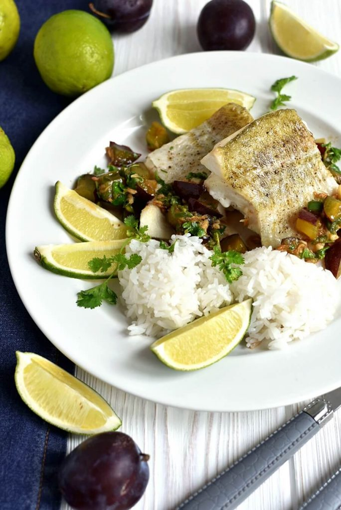Cod Fish Topped with Asian Salsa