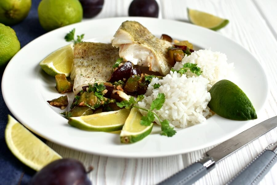 Roasted Cod with Soy Ginger Plum Salsa Recipe-How to make Roasted Cod with Soy Ginger Plum Salsa-Delicious Roasted Cod with Soy Ginger Plum Salsa1