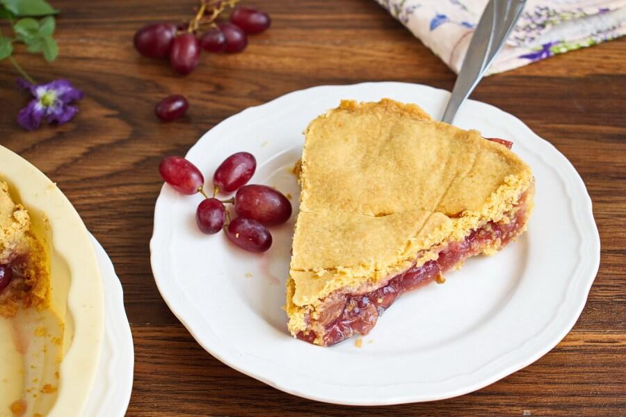 Ruby Grape Pie recipe-Ruby Red Grape Pie-How to make Ruby Grape Pie